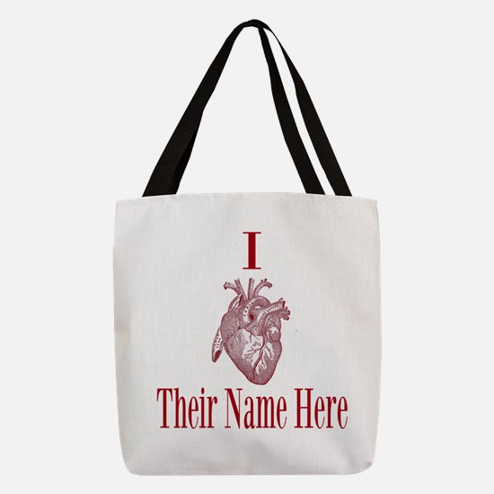 I Heart You Polyester Tote Bag