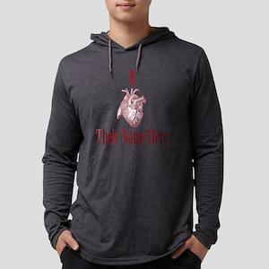 I Heart You Mens Hooded Shirt