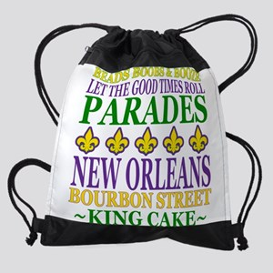 Mardis Gras Fun Drawstring Bag