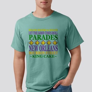 Mardis Gras Fun Mens Comfort Colors Shirt