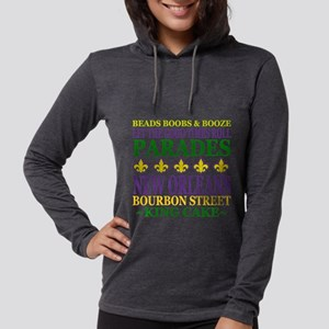 Mardis Gras Fun Womens Hooded Shirt