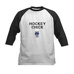Hockey Chick Kids Baseball Jersey