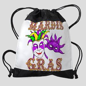 mardis gras Drawstring Bag