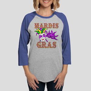 mardis gras Womens Baseball Tee