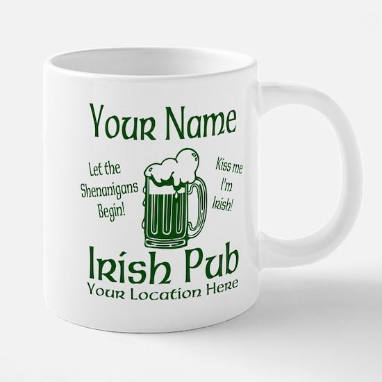 Custom Irish pub 20 oz Ceramic Mega Mug