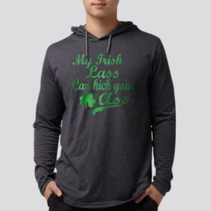 ire lass Mens Hooded Shirt