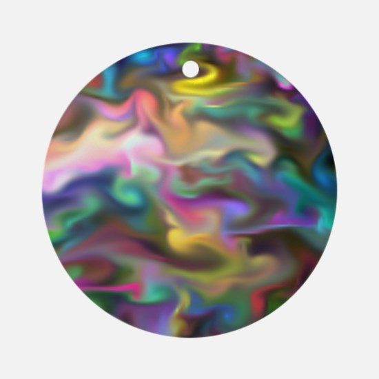 fascination fluid, multicolor Ornament (Round)