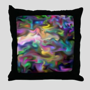 fascination fluid, multicolor Throw Pillow