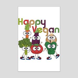 Happy Vegan Mini Poster Print
