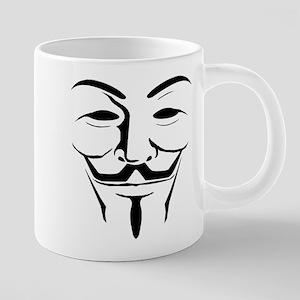 guy fawkes plain 20 oz Ceramic Mega Mug