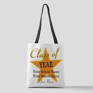 Custom Graduation Polyester Tote Bag