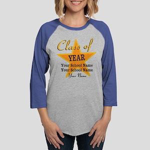 Custom Graduation Womens Baseball Tee