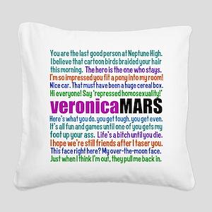 Veronica Mars Quotes Square Canvas Pillow