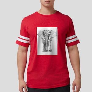 Elephant art Mens Football Shirt