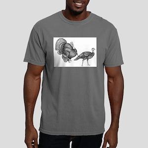 turkey and hen Mens Comfort Colors Shirt