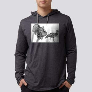 turkey and hen Mens Hooded Shirt