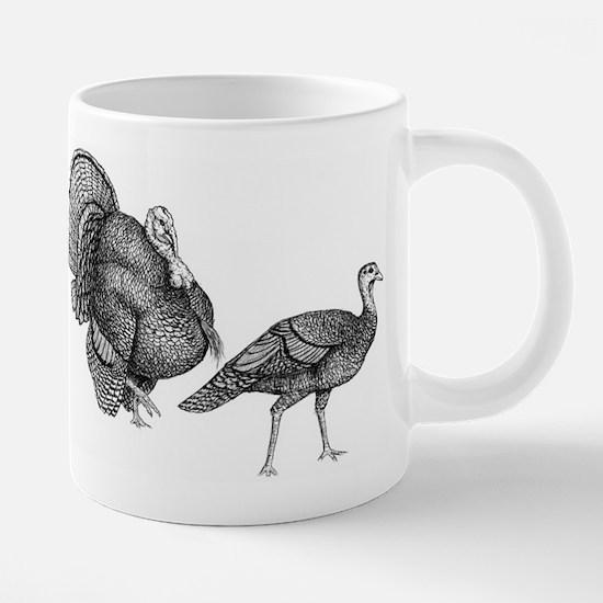turkey and hen.jpg 20 oz Ceramic Mega Mug