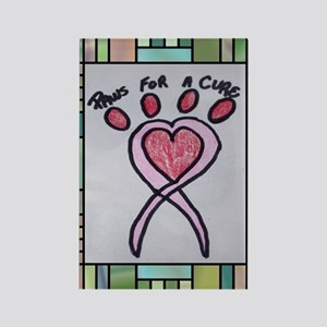 Paws For A Cure St. Glass Rectangle Magnet