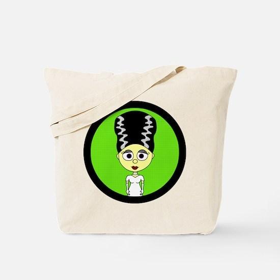 Cute Bride of Frankenstein Tote Bag