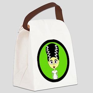 Cute Bride of Frankenstein Canvas Lunch Bag