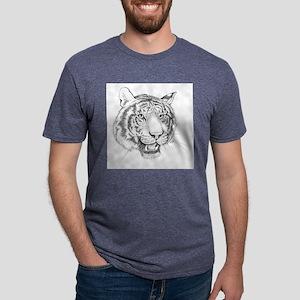 Tiger Art Mens Tri-blend T-Shirt