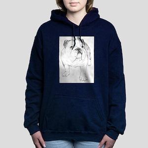 Bulldog Art Women's Hooded Sweatshirt