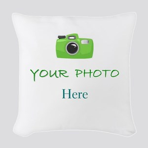 PERSONALIZED - YOUR PHOTO * Woven Throw Pillow