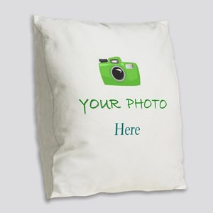 Personalized - Your Photo * Burlap Throw Pillow