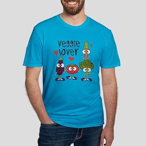 Veggie Lover Men's Fitted T-Shirt (dark)