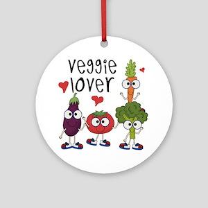 Veggie Lover Ornament (Round)
