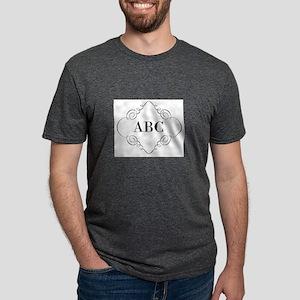 Vintage Monogram Mens Tri-blend T-Shirt