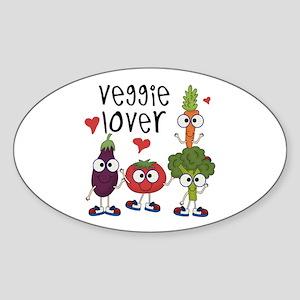 Veggie Lover Sticker (Oval)