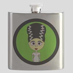 Cute Bride of Frankenstein Flask