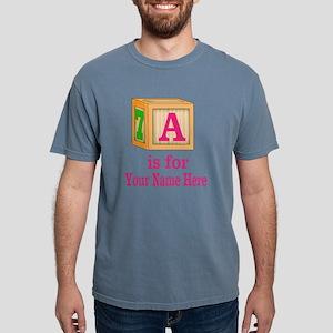 Custom Pink Block Mens Comfort Colors Shirt