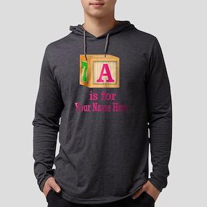 Custom Pink Block Mens Hooded Shirt