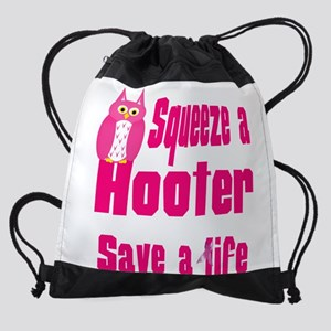 squeeze a hooter Drawstring Bag