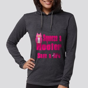 squeeze a hooter Womens Hooded Shirt