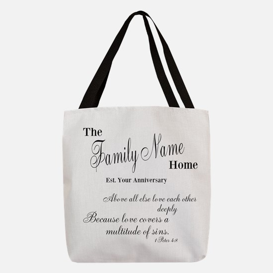 1 Peter 4:8 Polyester Tote Bag