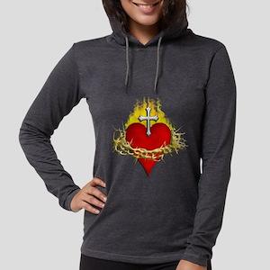 Sacred Heart Womens Hooded Shirt