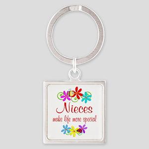 Special Niece Square Keychain