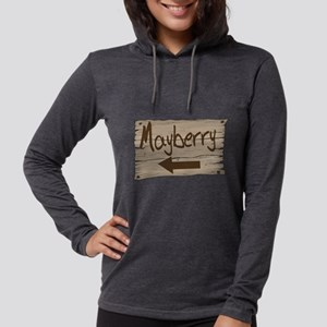 Vintage Mayberry Sign Womens Hooded Shirt