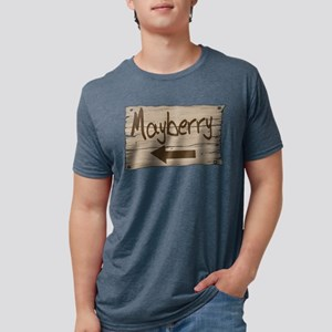 Vintage Mayberry Sign Mens Tri-blend T-Shirt