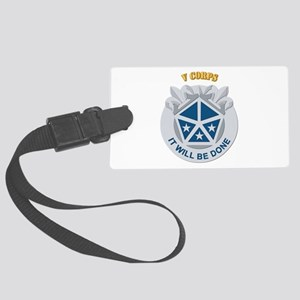 DUI - V Corps With Text Large Luggage Tag
