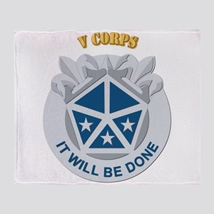 DUI - V Corps With Text Throw Blanket