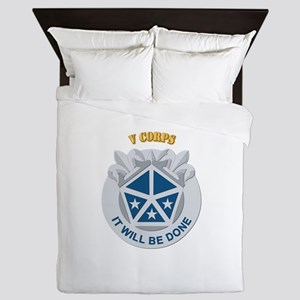 DUI - V Corps With Text Queen Duvet
