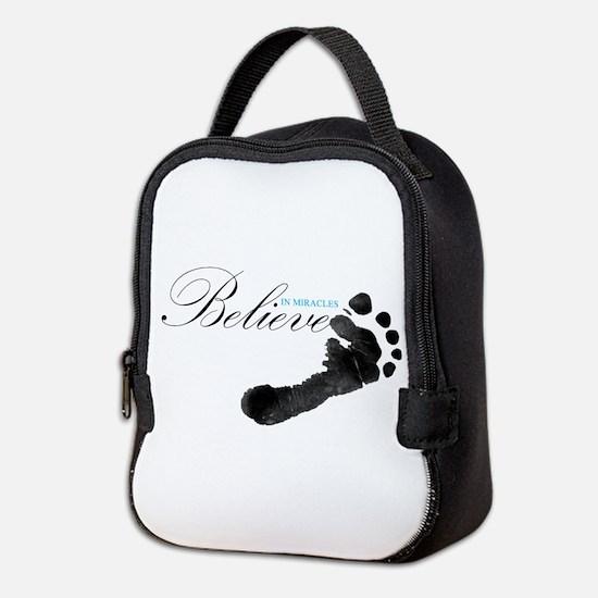 Believe in Miracles Neoprene Lunch Bag