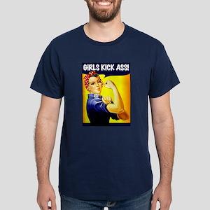 GIRLS KICK ASS Dark T-Shirt