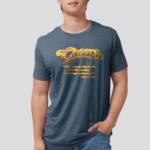 dog eat dog cheers Mens Tri-blend T-Shirt