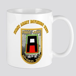 SSI - First Army Division West with Text Mug