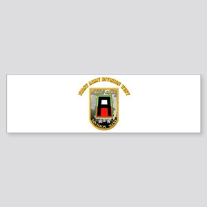 SSI - First Army Division West with Text Sticker (